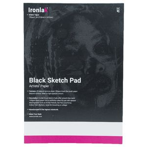 Ironlak Sketch Pad A4 50pg 150gsm Black