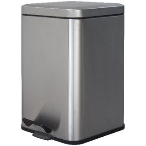 J.Burrows Stainless Steel Pedal Bin 12L