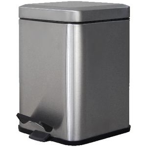 J.Burrows Stainless Steel Pedal Bin 6L