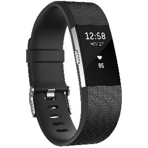 Fitbit Charge 2 Activity Tracker Black Large at Officeworks in Campbellfield, VIC | Tuggl