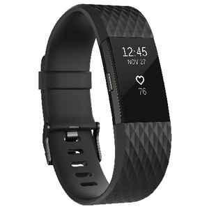 Fitbit Charge 2 Activity Tracker Special Edition Gunmetal L