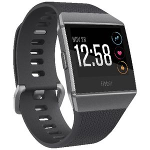 Fitbit Ionic Smart Fitness Watch Charcoal Smoke