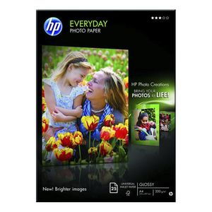 HP 200gsm A4 Everyday Glossy Photo Paper 25 Sheet Pack