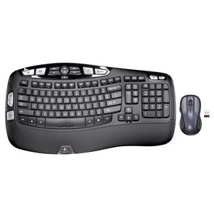 Logitech Wave Wireless Keyboard and Mouse Combo Black MK550
