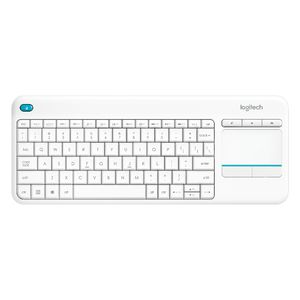 Logitech Plus Wireless Touch Keyboard White K400