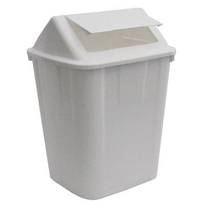 Italplast 32L Swing Top Tidy Bin White
