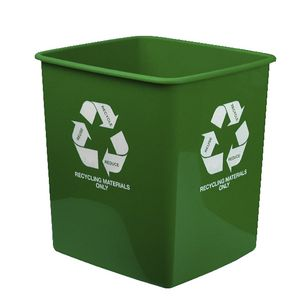 Italplast 15 L Recycling Materials Only Tidy Bin Green