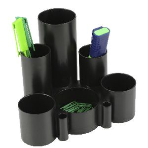 Italplast Green-R Desk Tidy Black | Tuggl