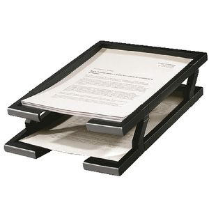 Italplast 2 Tier Document Tray Black
