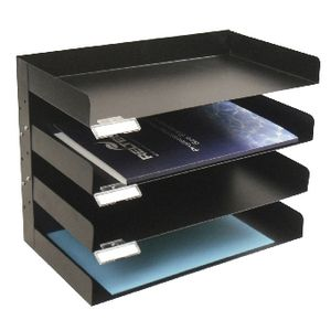 Italplast Metal 4 Tier Desk Tray