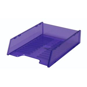 Italplast A4 Document Tray Tinted Purple