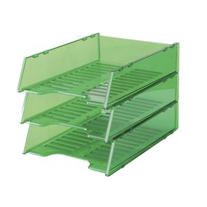Italplast A4 Document Tray Tinted Green