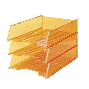 Italplast A4 Document Tray Tinted Orange