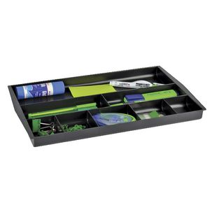 Italplast Recycled Drawer Tidy Black
