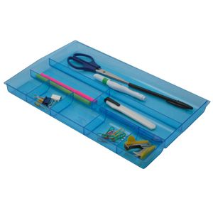 Italplast Drawer Tidy Tinted Blue
