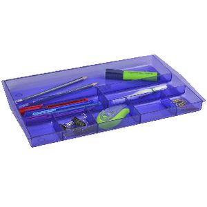Italplast Drawer Tidy Tinted Purple