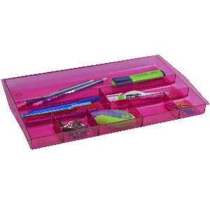 Italplast Drawer Tidy Tinted Pink