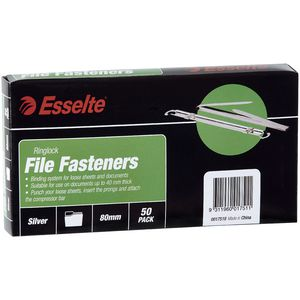 Esselte Ring Lock File Fasteners 50 Pack