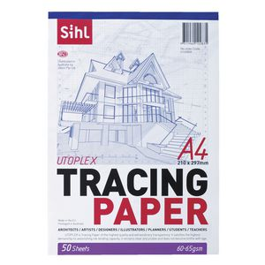 Sihl 60gsm A4 Tracing Paper Pad 50 Sheets