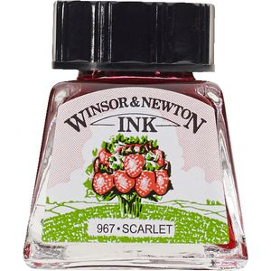 Winsor & Newton Drawing Ink 14mL Scarlet 967