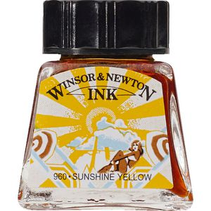 Winsor & Newton Drawing Ink 14mL Sunshine Yellow 960