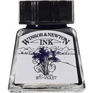 Winsor & Newton Drawing Ink 14mL Violet 971