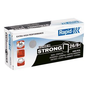 Rapid 26/8+ Staples 5000 Pack