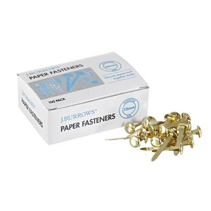 J.Burrows 25 mm Paper Fasteners 100 Pack