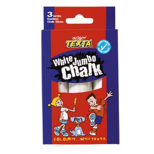 Texta Jumbo Chalk White 3 Pack