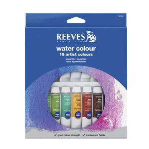 Reeves Watercolour Paint Set 10mL 18 Pack