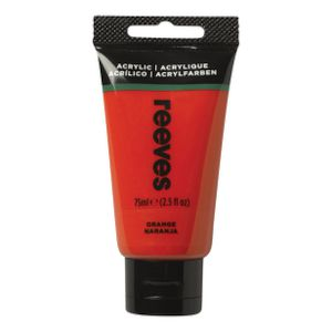 Reeves Artist Acrylic Paint 75mL Orange