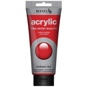 Reeves Artist Acrylic Paint 200mL Brilliant Red