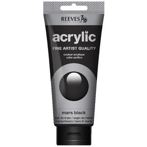 Reeves Artist Acrylic Paint 200mL Mars Black