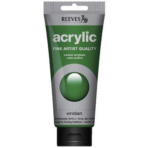 Reeves Artist Acrylic Paint 200mL Viridian Hue