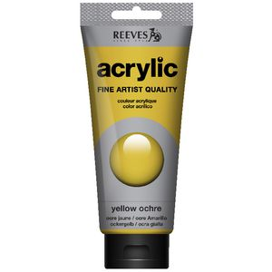 Reeves Artist Acrylic Paint 200mL Yellow Ochre