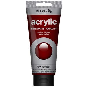Reeves Artist Acrylic Paint 200mL Raw Umber