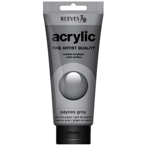 Reeves Artist Acrylic Paint 200mL Paynes Grey
