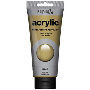 Reeves Artist Acrylic Paint 200mL Gold