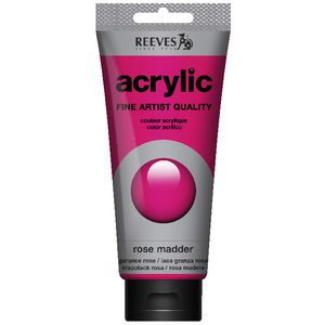 Reeves Artist Acrylic Paint 200mL Rose Madder