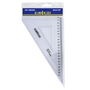 Celco 26cm 60 Degrees Set Square White