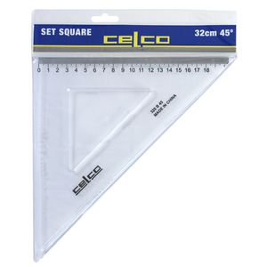 Celco 32cm 45 Degrees Set Square White