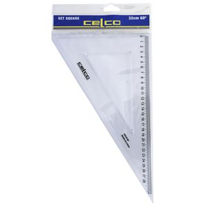 Celco 32cm 60 Degrees Set Square White