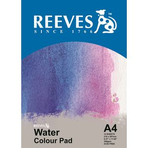 Reeves A4 Water Colour Pad 12 Sheet