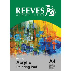 Reeves A4 Acrylic Painting Pad 12 Sheet