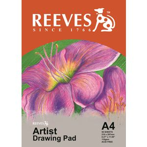 Reeves Artists Drawing Pad A4 50 Sheet