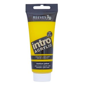 Reeves Acrylic Paint 100mL Medium Yellow