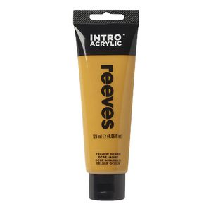 Reeves Acrylic Paint 100mL Yellow Ochre