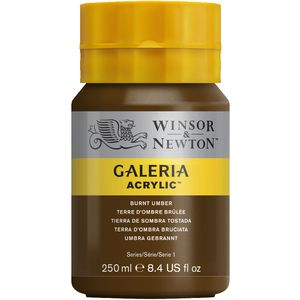 Winsor & Newton Galeria Acrylic Paint 250mL Burnt Umber