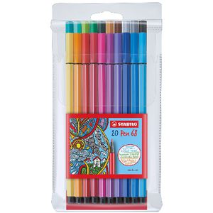 Stabilo 68 Pens Assorted 20 Pack