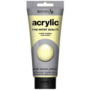 Reeves Artist Acrylic Paint 200mL Pale Lemon Yellow